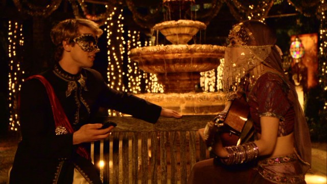 Lucy Hale as Katie and Freddie Stroma as Luke A Cinderella Story Once Upon a Song picture image