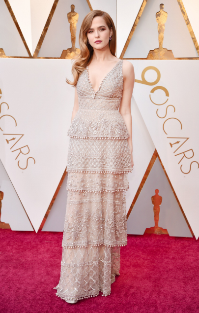 Zoey Deutch Elie Saab Oscars 2018 picture image