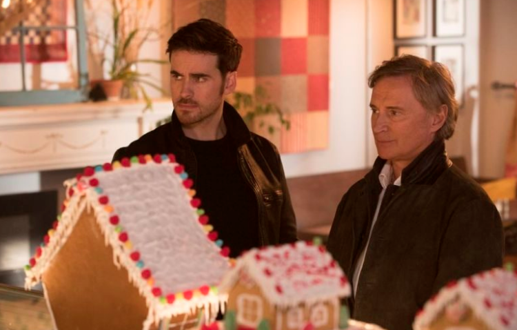 Colin O'Donoghue as Rogers and Robert Carlyle as Weaver Once Upon a Time Season 7 Episode 12 A Taste of the Heights picture image