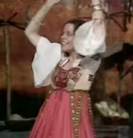 Michelle Newell as Esmeralda 1977 Hunchback of Notre Dame picture image