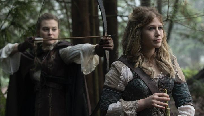 Rose Reynolds as Alice & Tiera Skovbye as Robin Once Upon a Time Season 7 Episode 14 The Girl in the Tower picture image
