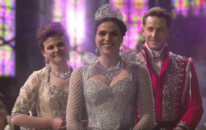 Lana Parrilla as Regina, Ginnifer Goodwin as Snow White & Josh Dallas as Charming Once Upon a Time Season 7 Episode 22 Series Finale Leaving Storybrooke picture image