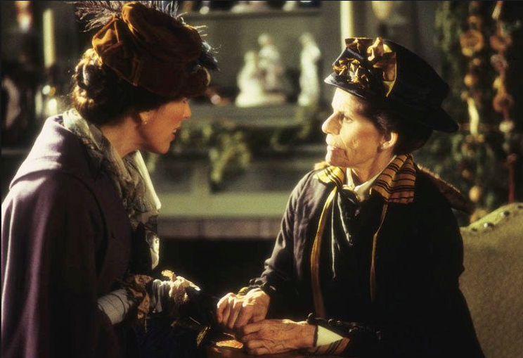Mag Ruffman as Olivia Dale and Jackie Burroughs as Hetty King Happy Christmas Miss King picture image