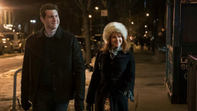 Julie Klauser as Julie Kessler and Billy Eichner as Billy Epstein, Difficult People Difficult Christmas picture image