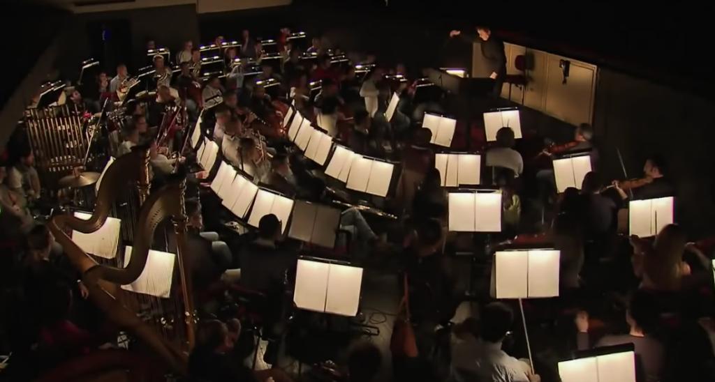 Orchestra pit practice the music for Roland Petit's Notre Dame de Paris picture image