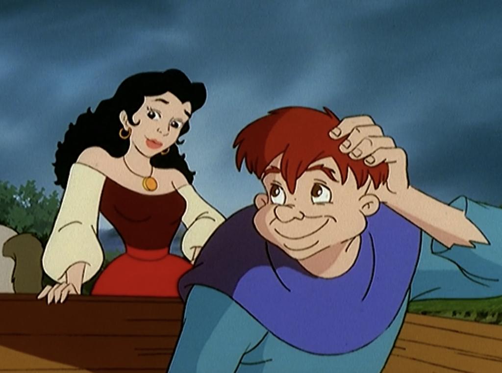 Esmeralda and Quasimodo in costumes, The Magical Adventures of Quasimodo Episode 8, Witches Eve