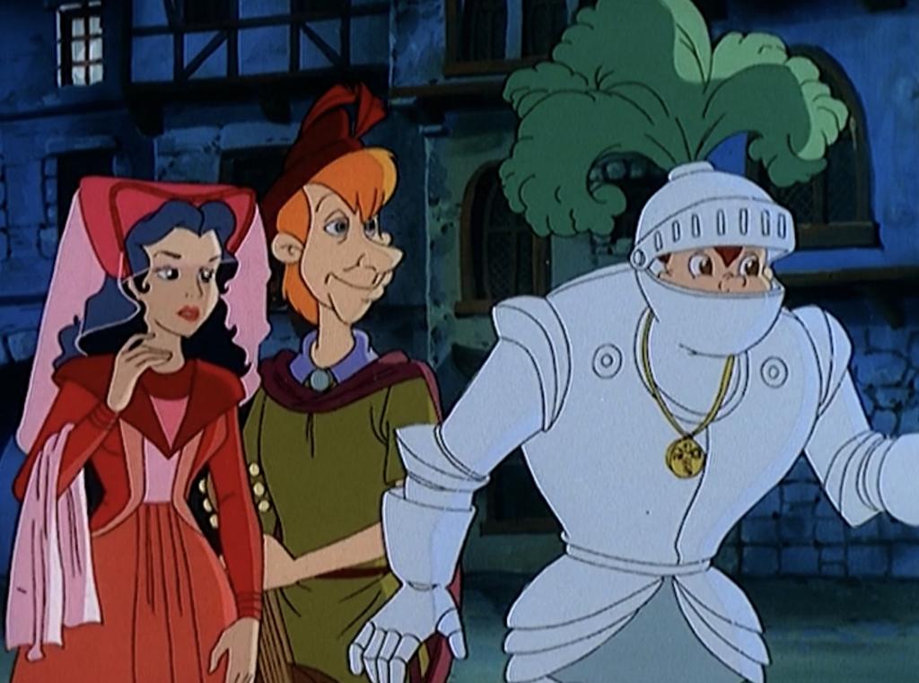 Esmeralda, François and Quasimodo in costumes, The Magical Adventures of Quasimodo Episode 8, Witches Eve